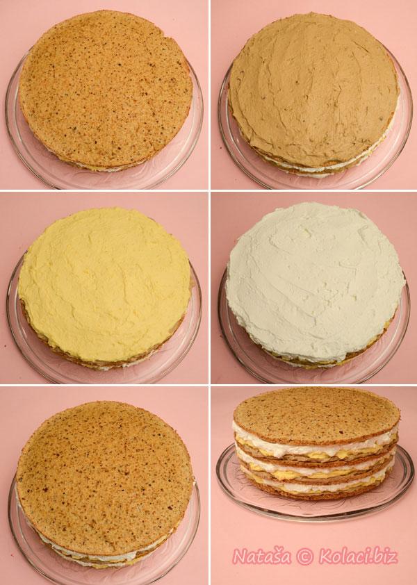 slaganje milka torte