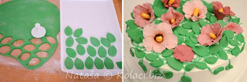 lišće na torti