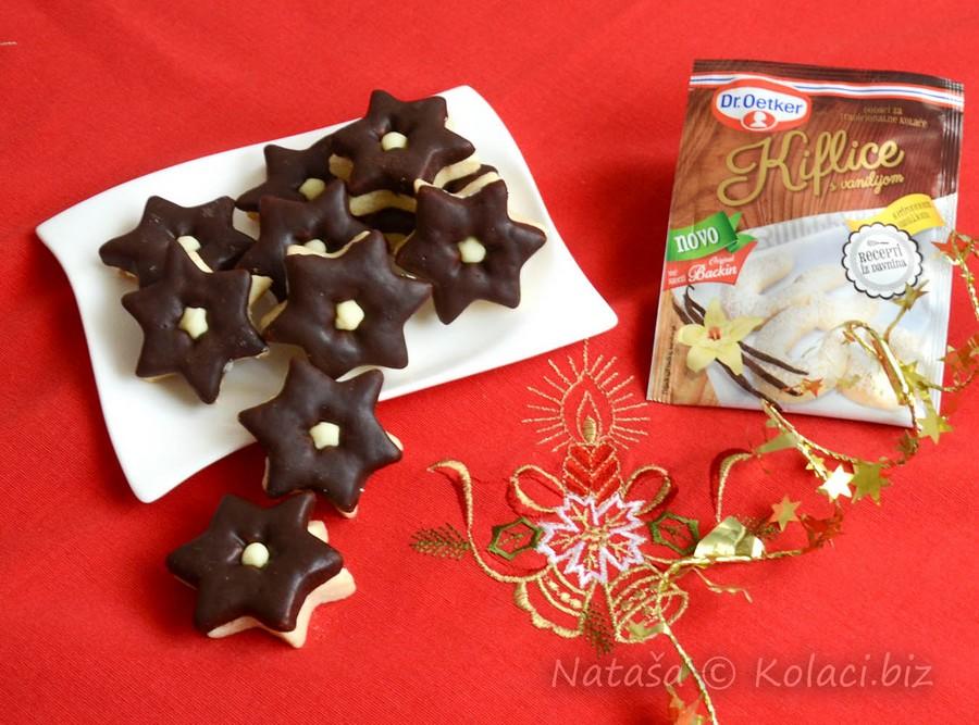zvijezdice sa čokoladom