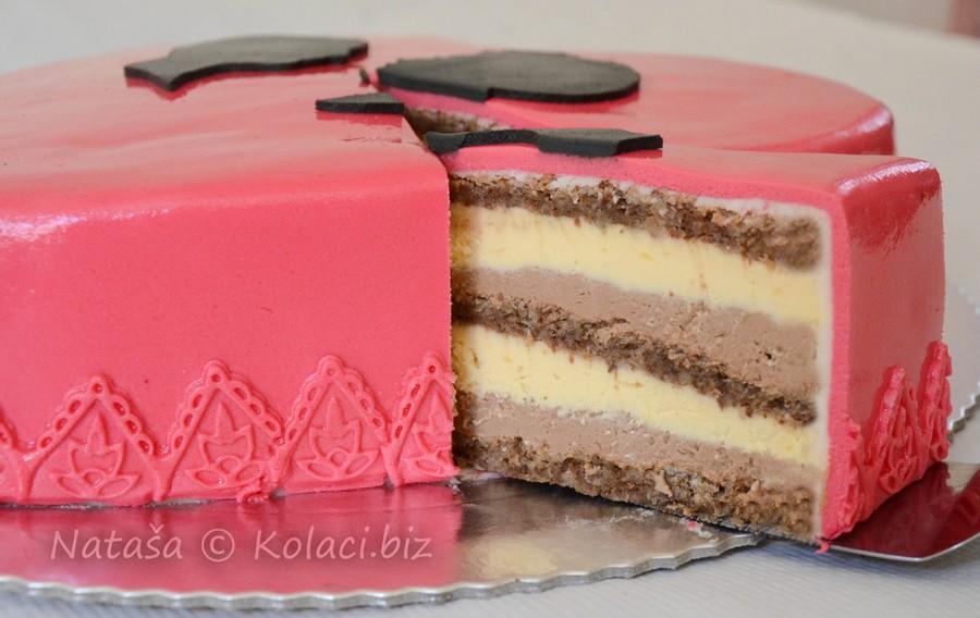 srce mliječna čokoladna torta