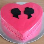 Dekoracija za Dan Zaljubljenih s vašim siluetama