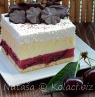 kolač sa višnjama i grizom
