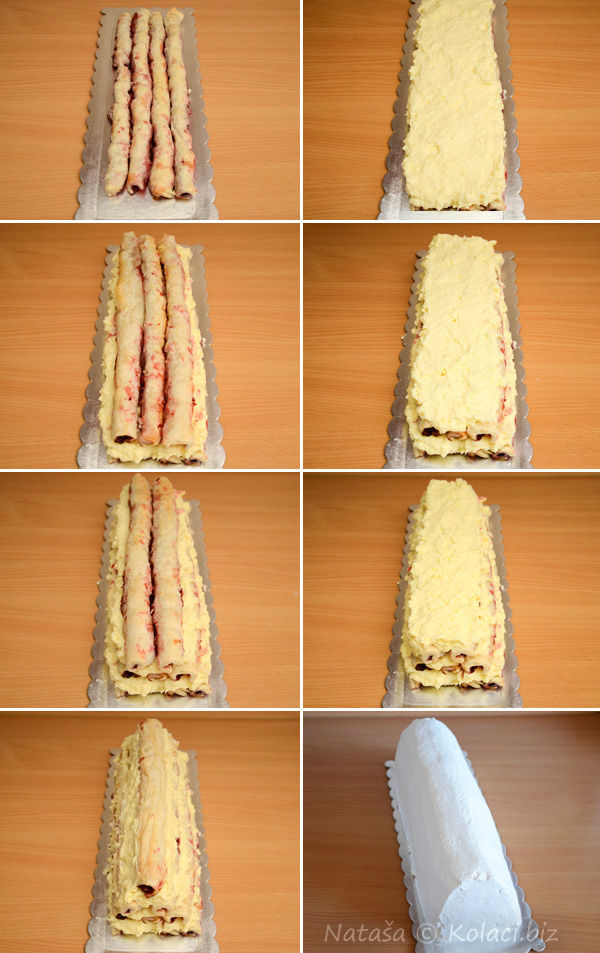 piramida kolač slaganje