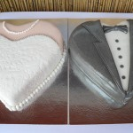 Svadbene torte u obliku srca (tutorijal vjenčanica i odijelo)