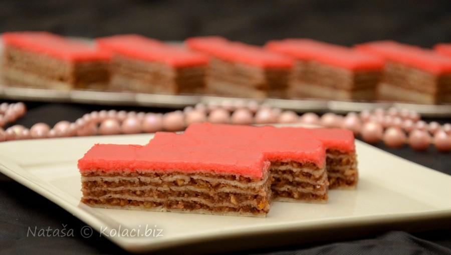 rozen kolač sa čokoladom