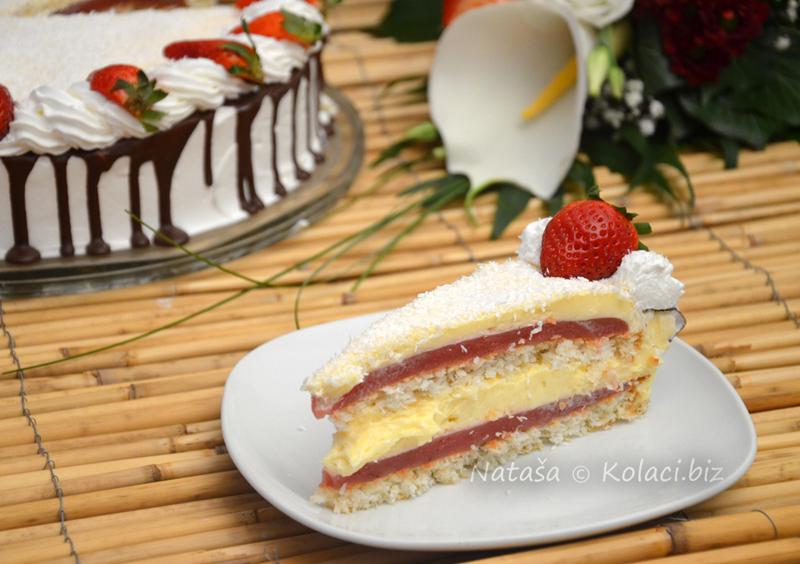 torta-sa-jagodama-i-kokosom