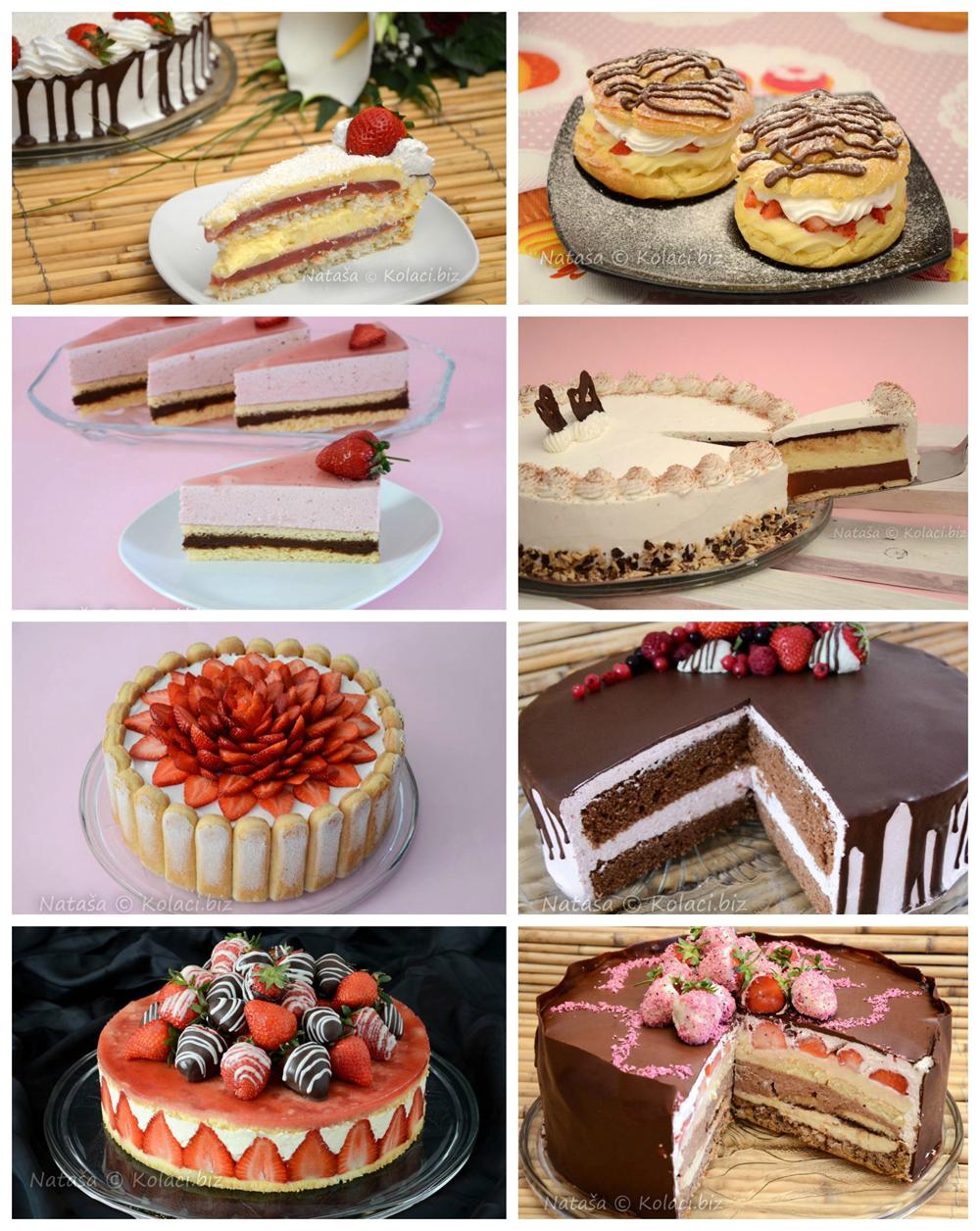 torte i kolači sa jagodama