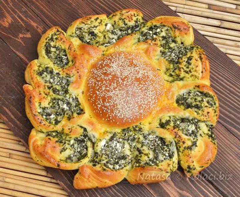 suncokret-pogaca-sa-spinatom-i-sirom