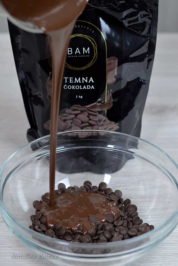 staklena glazura sa čokoladom