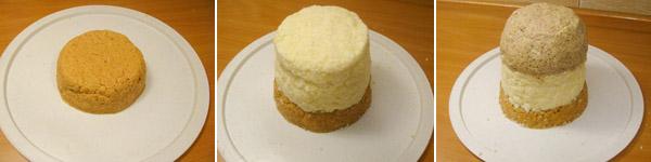slaganje pijesak torte